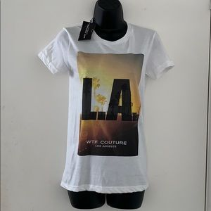 WTF Couture Los Angeles Men's Small T-Shirt NWT